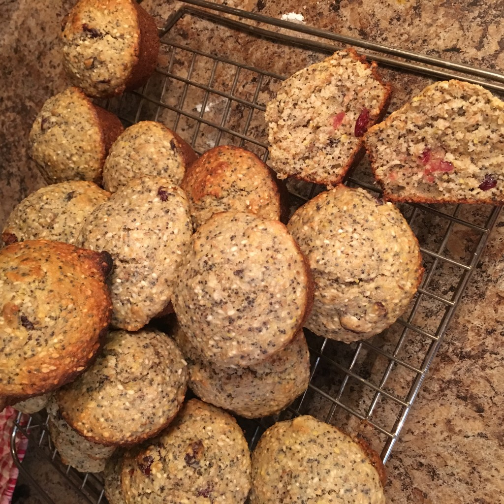 Photo of seedy muffins
